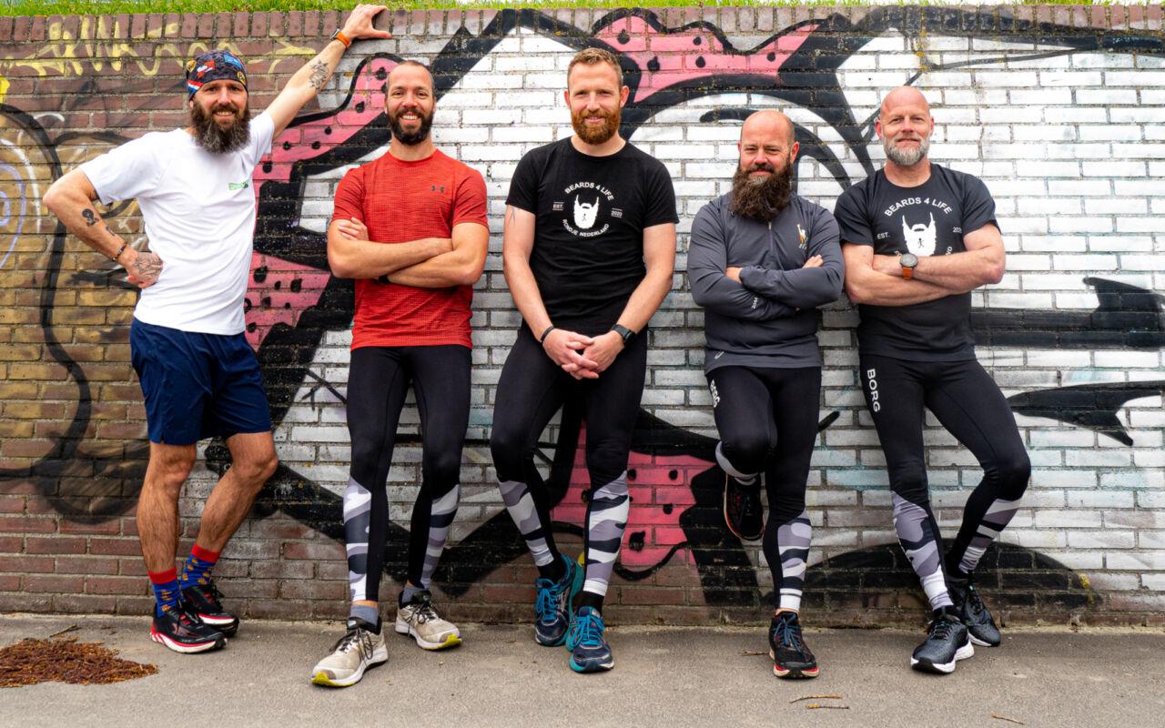 Team Beards4life rent een Rondje Nederland tegen depressie