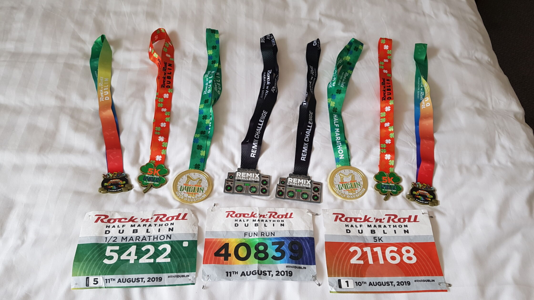 Medailles verzamelen bij de Rock 'n' Roll MarathonSeries