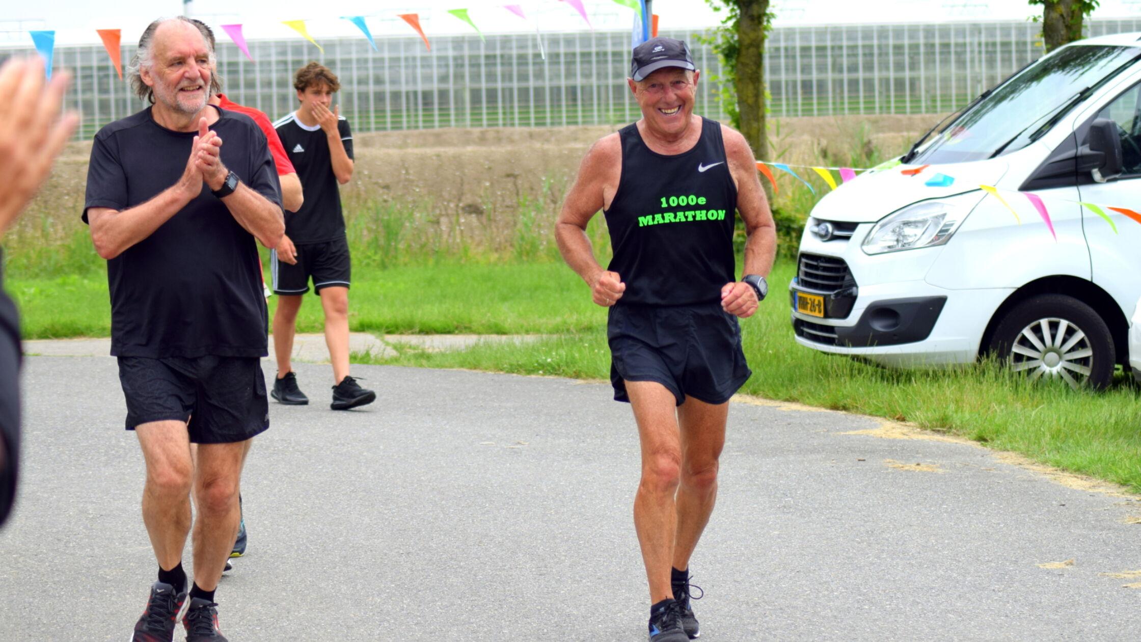 Ben Mol (72) loopt 1000 marathons