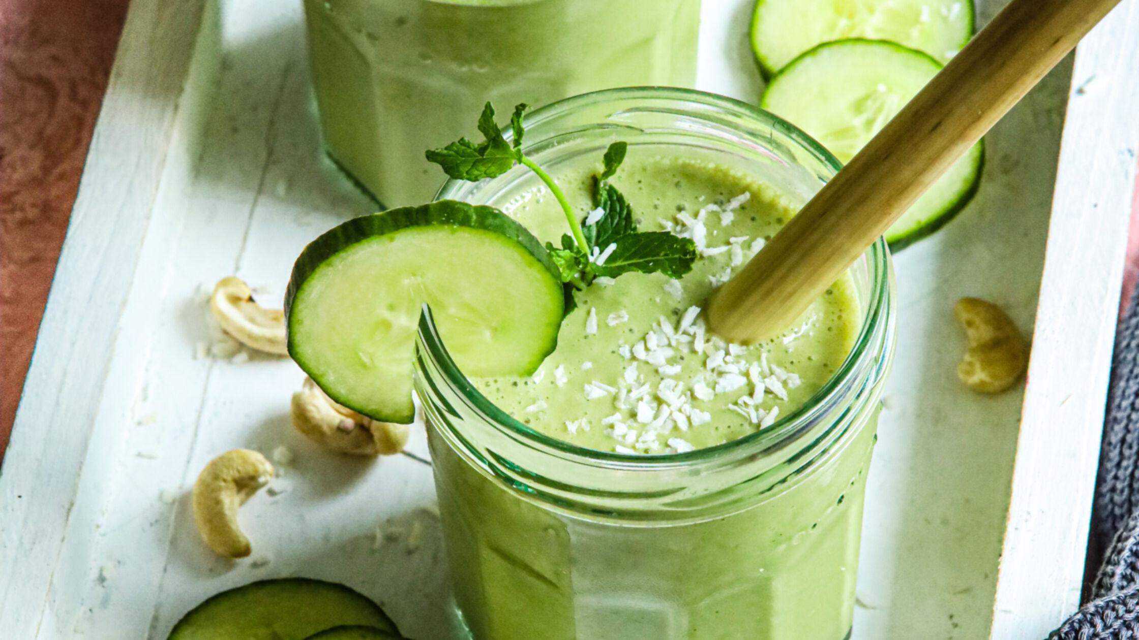 Verfrissende groene smoothie