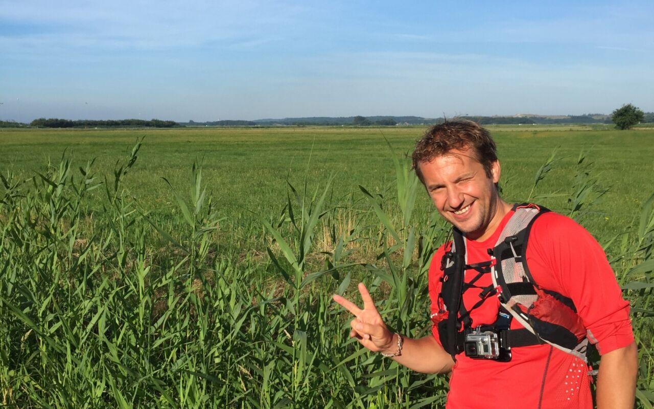 """Kilometervreter Anton-Jan Thijssen: """"Binnen een jaar liep ik langs de hele grens van Nederland"""""""