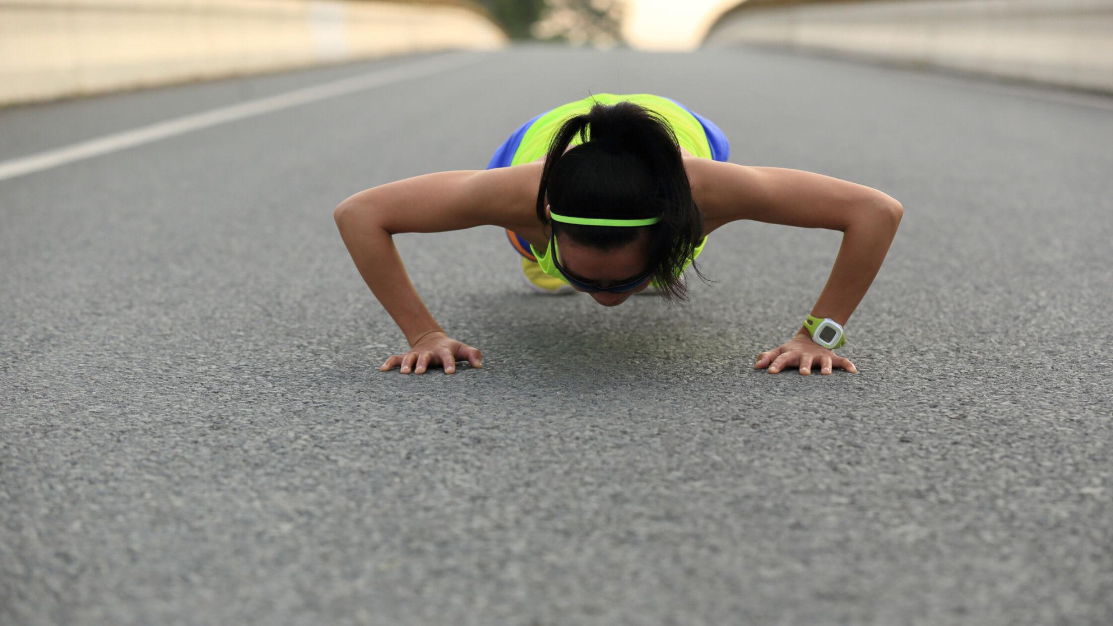 Werk aan je core met push-ups tijdens je training