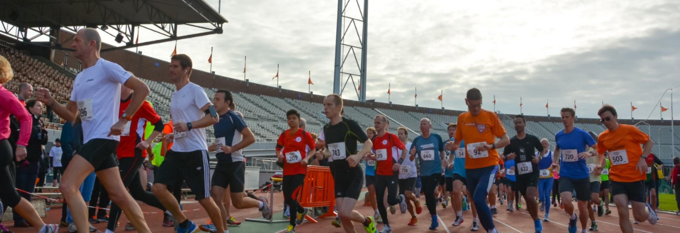 Phanos: trainen in het Olympisch Stadion van Amsterdam