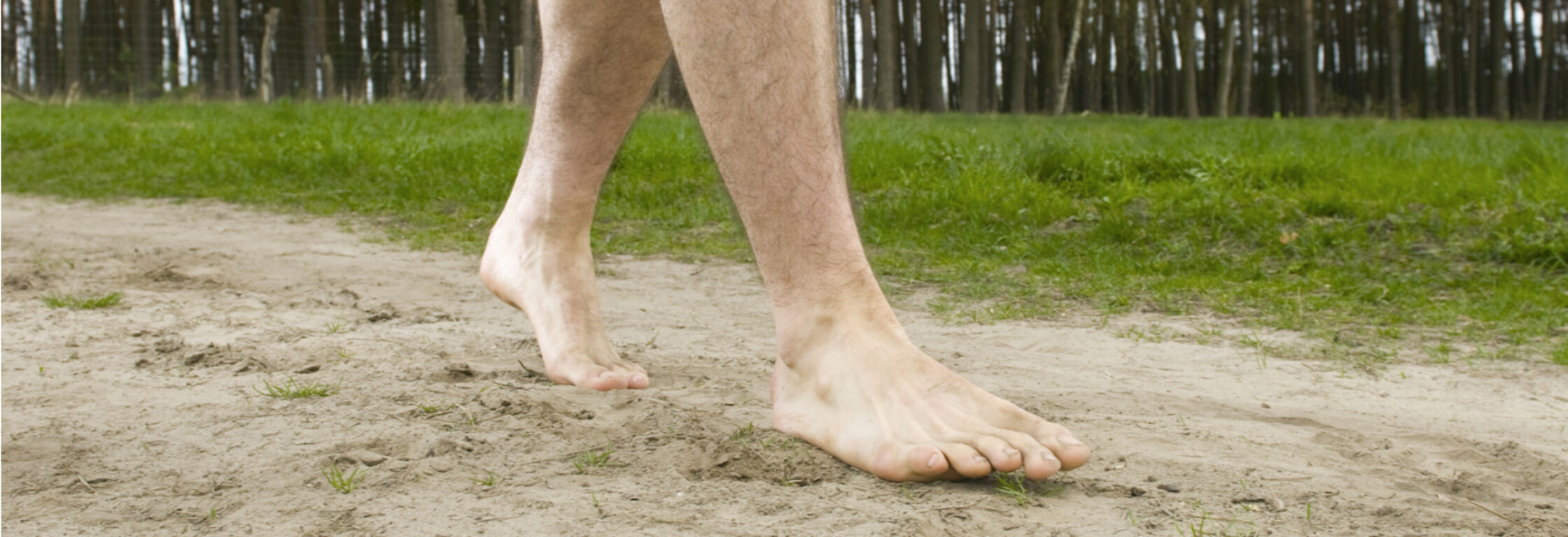 Barefoot runner Bram Vogels